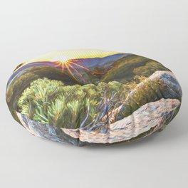 Sage Mountain Sunset Floor Pillow