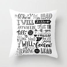Where You Lead   Gilmore Girls Throw Pillow
