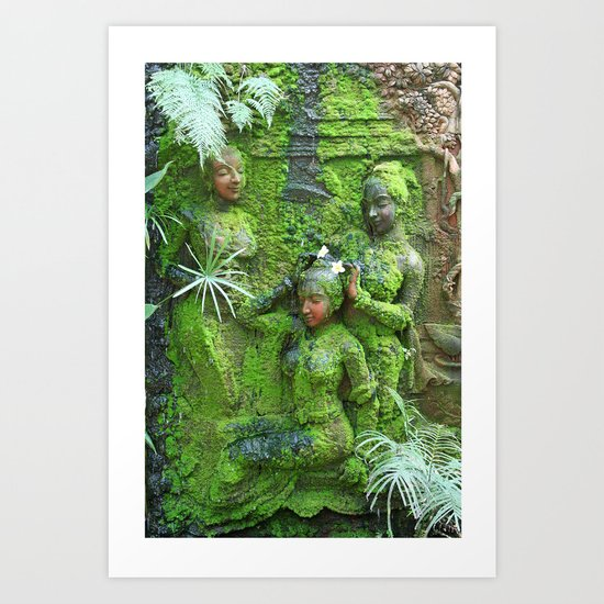 Green Ladies Art Print