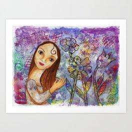 Joy by patsy paterno Art Print
