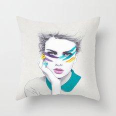War Paint Sally Throw Pillow