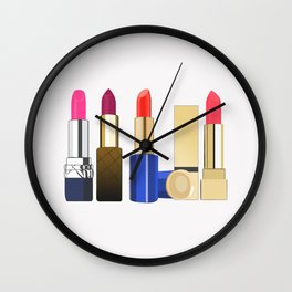 my lipstick collection Wall Clock