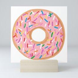 Pink Glaze Doughnut Mini Art Print
