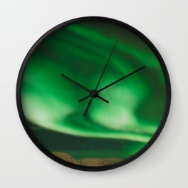 Northern Lights in Norway Wall Clock