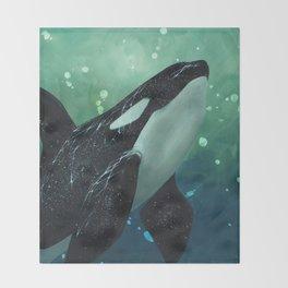 Orcinus Throw Blanket