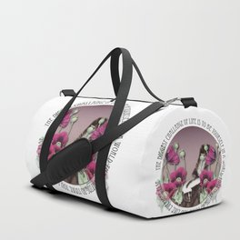 The Biggest Challange Of Life Is To Be Yourself Duffle Bag