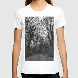 Monochromatic forest path T-shirt