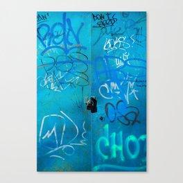 Urban Blue Style Street Graffiti Canvas Print