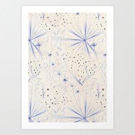 bleu craie Art Print