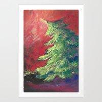 Pastel Pine Tree Art Print