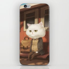 A cat waiting for someone iPhone Skin