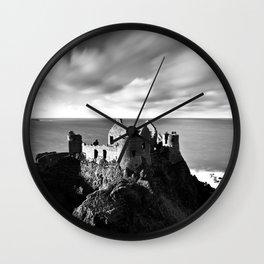Dunluce castle,Ireland,Northern Ireland,Antrim coast Wall Clock