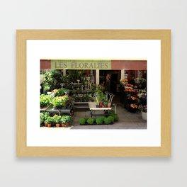 Flower Shop in France Framed Art Print
