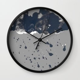 Inky Oil Cloud of Radiation Wall Clock