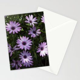 lila flower Stationery Cards