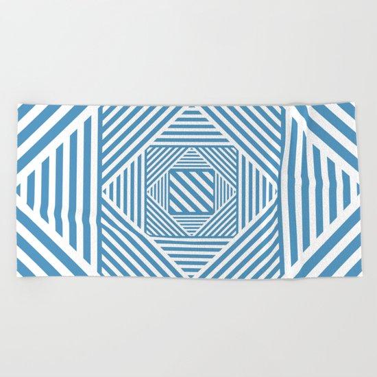 Blue & White Secret Passage Beach Towel
