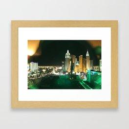 Window to Vegas Framed Art Print