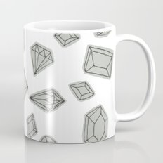 doodle crystals on white Coffee Mug