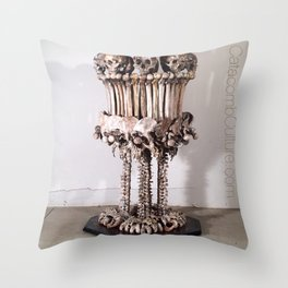 Catacomb Culture - Skull and Bone Lamp Throw Pillow