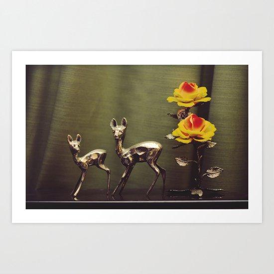 Ciervitos Art Print