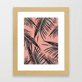 Black Palm Leaves Dream #5 #tropical #decor #art #society6 Framed Art Print