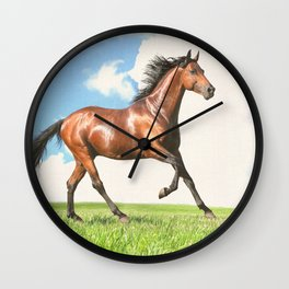 Horse print horse photography equestrian art poster Wall Clock