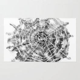Watercolor Spider Web Halloween Art Rug
