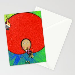 B Woman Red Stationery Cards