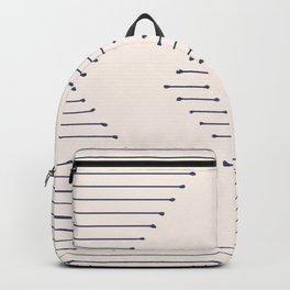 Boho Mudcloth lines Backpack
