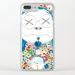 TAKASHI MURAKAMI - Self portrait of the distressed artist Clear iPhone Case