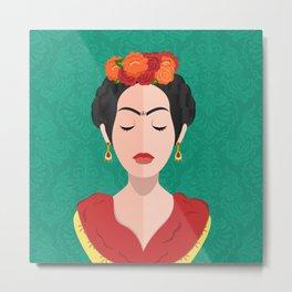 The Joyful Exit (Frida) Metal Print