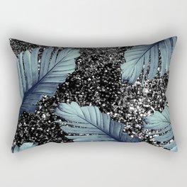 Banana Leaves Glitter Glam #5 #shiny #tropical #decor #art #society6 Rectangular Pillow