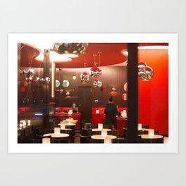 Red café PARIS Art Print