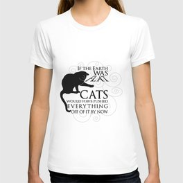 Cats on the Flat Earth T-shirt