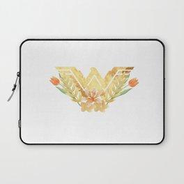 wonder.woman floral Laptop Sleeve