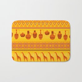 African Themed Pattern-Vibrant-Colourful Bath Mat