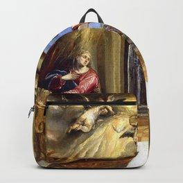 """El Greco (Domenikos Theotokopoulos) """"The Annunciation (1570)"""" Backpack"""