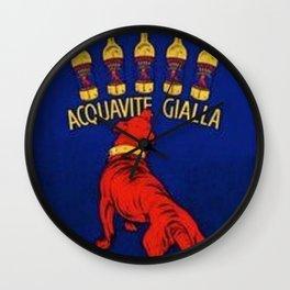 Vintage Mastino Acquavite Gialla Italian Aperitif Advertisement Poster Wall Clock