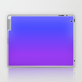 Neon Purple and Bright Neon Blue Ombré Shade Color Fade Laptop & iPad Skin