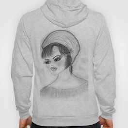 Flapper Girl in cap Hoody