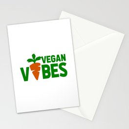 vegan vibes funny saying Stationery Cards