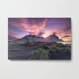 Stokksnes Sunrise Metal Print