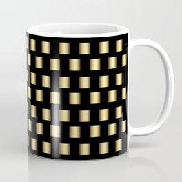 Gold Metallic Squares Coffee Mug
