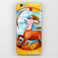 sagittarius iPhone & iPod Skins featuring Sagittarius by Sandra Nascimento