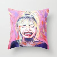 allyson johnson Throw Pillows featuring Betsey Johnson by AntiPosi