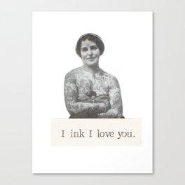 I Ink I Love You Canvas Print