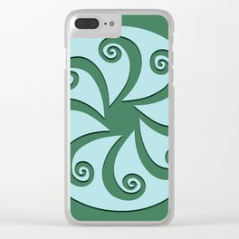 """Geometic Print """"Octo"""" Clear iPhone Case"""
