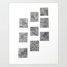 rubik's cube two Art Print