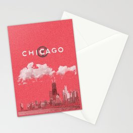 Chicago - Red Stationery Cards