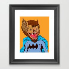 Bat-mania Framed Art Print